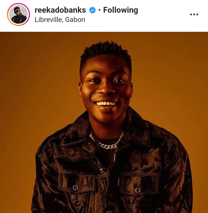 Reekado Banks Begs Federal Government To Open Border For Him